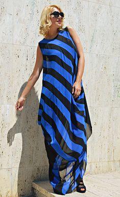 Blue Cocktail Dress TDK267 Striped Summer Dress Blue Caftan https://www.etsy.com/listing/527222788/blue-cocktail-dress-tdk267-striped?utm_campaign=crowdfire&utm_content=crowdfire&utm_medium=social&utm_source=pinterest