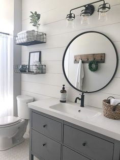 Check out these 19 amazing decor ideas for your farmhouse bathroom! From lightin… – diy bathroom ideas Bathroom Design Tool, Bathroom Interior Design, Bath Design, Modern Farmhouse Bathroom, Classic Bathroom, Rustic Farmhouse, Farmhouse Ideas, Parisian Bathroom, Bathroom Trends