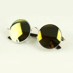 """Xander"" Round Reflective Unisex Sunglasses http://www.thehoneyroom.com/xander-round-reflective-unisex-sunglasses/"