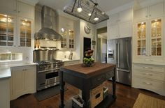 Amber's white kitchen with black island 1