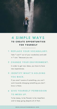 4 Simple Ways To Create Opportunities For Yourself Life Advice Personal Growth & Development Mindfulness Self Development, Personal Development, Leadership Development, Mental Training, Journaling, Self Improvement Tips, Positive Mindset, Quotes Positive, Life Advice