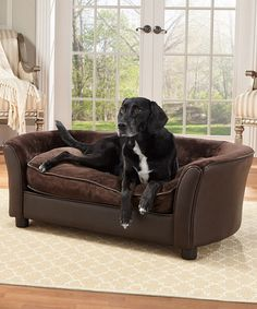 Look what I found on #zulily! Panache Brown Pet Bed #zulilyfinds $139.99  Our Girls need this!!!