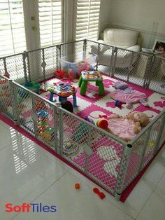 Love this idea! Make a difficult flooring area soft for my child!!