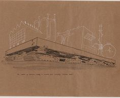 City of the Future - Cedric Price Rem Koolhaas, Cedric Price, Utopia Dystopia, Urban Intervention, Walking City, 11. September, Architecture Student, Drawing Architecture, Late 20th Century