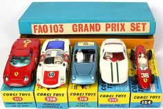 ultra rare 1967 Corgi Toys sports car gift set for the oldest toy store in the United States - FAO Schwarz 1980 Toys, 60s Toys, Childhood Toys, Childhood Memories, Corgi Toys, Metal Toys, Porsche Carrera, Classic Toys, Toy Store