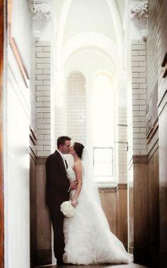 Romantic Wedding at the Palmer House Hilton, Chicago  #Amsale dress #realwedding