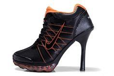 the latest a3697 fa090 Nike Air Max 2009 High Heels Black Orange Nike Heels, Nike Wedge Sneakers,  Sneaker
