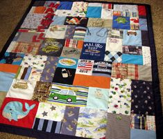 baby clothes memory quilt I have been planning this since the day he was born! I almost have my 1st box complete. Then, let the quilting begin! Im so excited for this amazing memory!