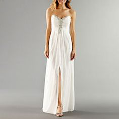 3c3b3a711e One by Eight Strapless Beaded-Bodice Wedding Gown Formal Gowns