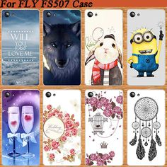 Fashion Colorful Cover For Fly FS 507 Cirrus 4 SOFT TPU Case Brilliant 10 Stylish 3D diy Design FOR Fly FS507 Stand Case Cover
