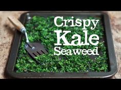 "Kale ""seaweed"" just like you get from the chinese. Just like making kale crisps but cut finer and add sugar and salt. Sea Weed Recipes, Kale Recipes, Vegetable Recipes, Vegetarian Recipes, Cooking Recipes, Veggie Dishes, Savoury Recipes, Vegan Meals, Thai Recipes"