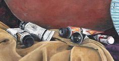 Artsy Still life. Art Studio scene Print of by CamilleBarnes