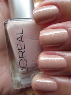 L'Oreal So Chic from the Diamonds Nail Polish Collection Beautiful Nail Art, Gorgeous Nails, Pretty Nails, Get Nails, Pink Nails, Hair And Nails, Nail Polish Art, Glitter Nail Polish, Stilettos