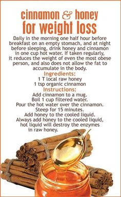 #Cinnamon and #Honey for #WeightLoss