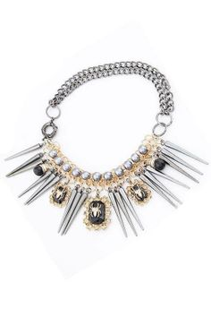 Exaggerated spider rivet personality short necklace