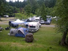 It's time to go camping! Big Tent RV Park in Parksville on Vancouver Island Camping Places, Camping Spots, Camping Stuff, Go Camping, Rv Travel, Travel Trailers, Outdoor Fun, Outdoor Gear, Yosemite National Park