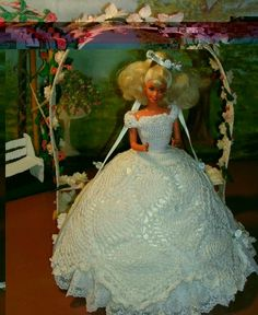CROCHET FASHION DOLL PATTERN-#39 SUMMER BRIDE #ICSORIGINALDESIGNS