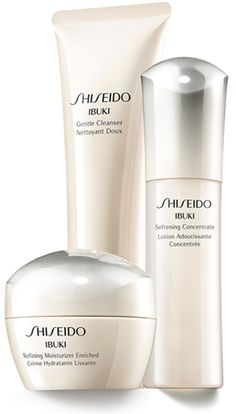 Shiseido Ibuki Moisturizer Concentrate, and Gentle Cleanser -Tati