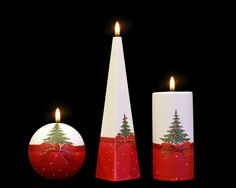 Christmas Tree - Two Little Candles Beautiful Candles, Handmade Candles, Christmas Tree, Christmas Ornaments, Pillar Candles, Table Decorations, Holiday Decor, Crafts, Home Decor