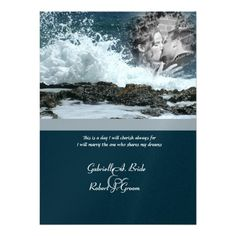 Deals Coastal Beach Wedding 5.5x7.5 Paper Invitation Card lowest price for you. In addition you can compare price with another store and read helpful reviews. Buy