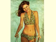 Genuine Vintage 1970s 'Golden Hands' Ladies Bikini & Swim Suit Sewing Pattern, 2 to make, see pics......Groovy, Pin Up Girl,