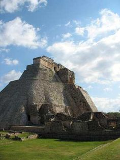 Mayan Pyramid of the Magician at Uxmal, the largest in the Puuc region, Yucatán (Mexico)