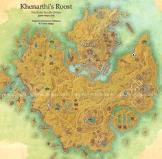 Khenarthi's Roost Map - The Elder Scrolls Online