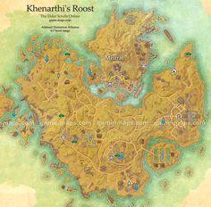 Khenarthi's Roost Map - The Elder Scrolls Online