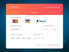 Dribbble - Daily UI #003 - Credit Checkout by Natasja