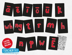 Te Reo Maori Alphabet Cards Alphabet Cards, 1st Day, Early Childhood Education, Learning Resources, Childcare, Card Games, Literacy, Teacher, Language