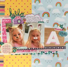 Shimelle for American Crafts Rainbow Paper, Glitter Girl, American Crafts, Magpie, Still Image, Scrapbooking Layouts, Disneyland, Whimsical, Things To Come