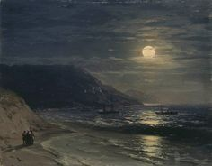 Yalta. The Mountains at Night, Ivan Konstantinovich Aivazovsky