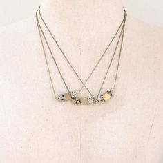 Brass + Dalmatian Jasper Necklace