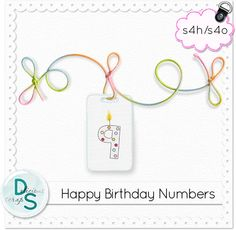 """""""Happy Birthday"""" Number Tags"""