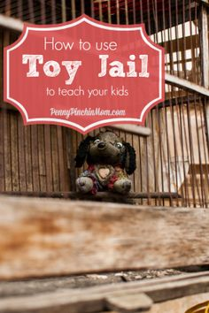 Toy jail is the perfect, very creative incentive that you are looking for to help teach your children responsibility for their things! Parenting Plan, Kids And Parenting, Parenting Hacks, Parental Responsibility, Reward System, Kids Board, Kids Behavior, Help Teaching, Raising Kids