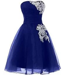 Strapless Short Prom Dresses,Beading Ruched Homecoming Dresses,HD047 from SIMI…