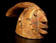 "Fulani Woman Mask - DA.685 Origin: Burkina Faso Circa: 1850 AD to 1950 AD  Dimensions: 7"" (17.8cm) high  Collection: African Art Medium: woo..."