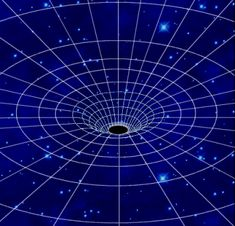 """""""Image of the space-time continuum being affected by the gravity of a black hole."""" :: Zeroing in on Black Holes 