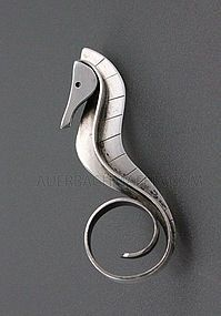 Paul Lobel Modernist Sterling Seahorse brooch Repin This by Joanna MaGrath