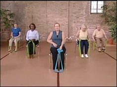 Stronger Seniors Core Strength - Resistance Strength Training for Seniors Resistance Workout, Resistance Band Exercises, Stretch Band Exercises, Band Workouts, Chair Exercises, Flexibility Exercises, Senior Fitness, Senior Workout, Yoga For Seniors