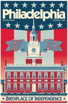 Philadelphia poster Philadelphia wall art Philadelphia art