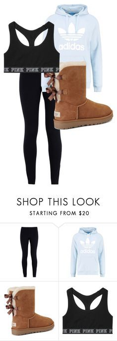 """School Outfit"" by chloefaust on Polyvore featuring NIKE, adidas Originals, UGG and Victoria's Secret"