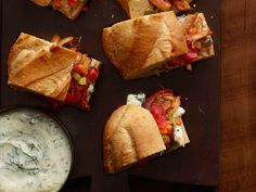 Buffalo Chicken Subs recipe from Jeff Mauro via Food Network