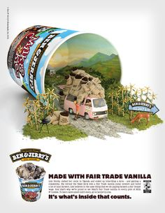 Ben and Jerry's Website. Articles critiquing recent ad campaigns: AdWeek Graphicology Blog Daily Billboards