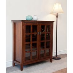 Stratford Auburn Brown Medium Storage Media Cabinet & Buffet | Overstock.com Shopping - Great Deals on WyndenHall Media/Bookshelves