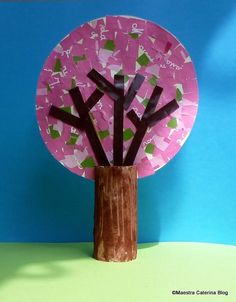 Tree Crafts, Crafts For Kids, Arts And Crafts, Blooming Trees, School Art Projects, 4 Year Olds, Sensory Play, Spring Crafts, Kids Education