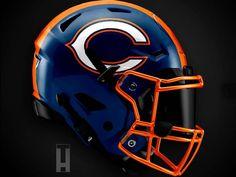 Nfl Football Players, Nfl Football Teams, Bears Football, Football Uniforms, Football Art, New Nfl Helmets, Cool Football Helmets, Football Helmet Design, Soccer