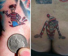 Waldo stuck in between boobs...omg