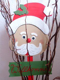 Tolle Weihnachtsdekoration zum Selbstmachen - ein 91cm hohes Willkommensschild