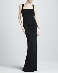 Sleeveless+Stretch-Jersey+Gown+by+Nicole+Miller+at+Neiman+Marcus.